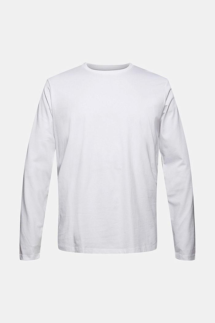 Haut à manches longues en jersey, 100% coton bio, WHITE, detail image number 8