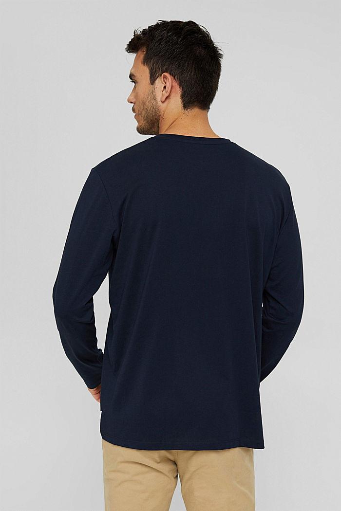 Jersey longsleeve van 100% biologisch katoen, NAVY, detail image number 3