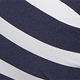 Recycled: padded underwire top with stripes, NAVY, swatch