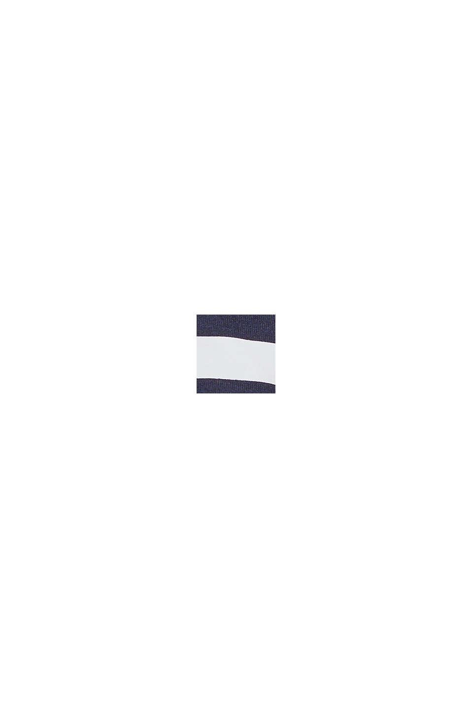 Wattiertes Neckholder-Top mit Streifen, NAVY, swatch