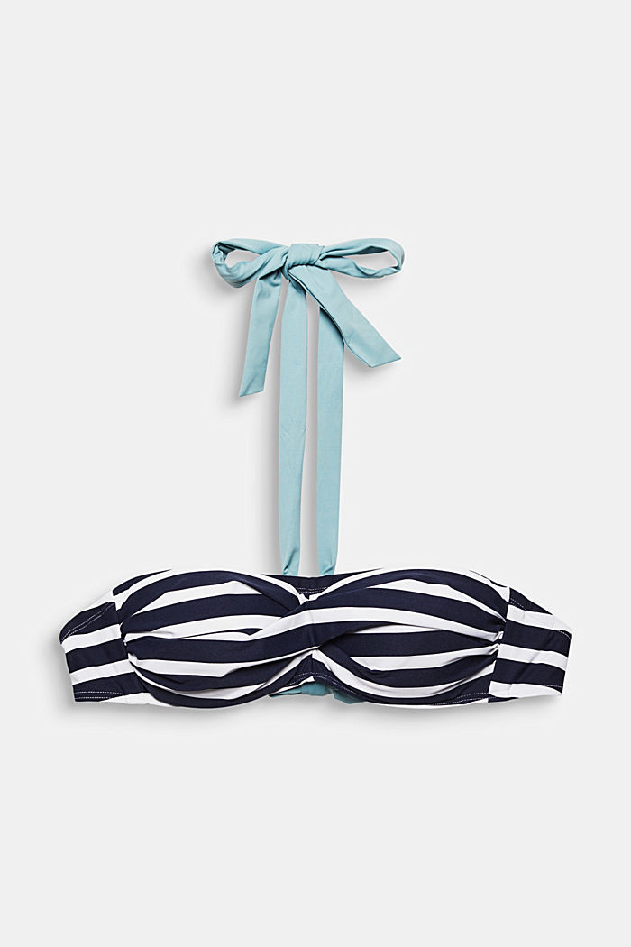 Recycled: striped bandeau top
