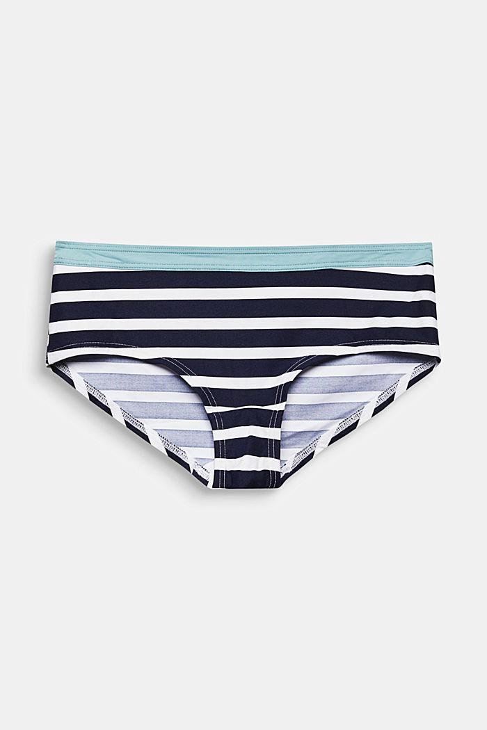 Recycelt: Shorts mit Streifen-Print