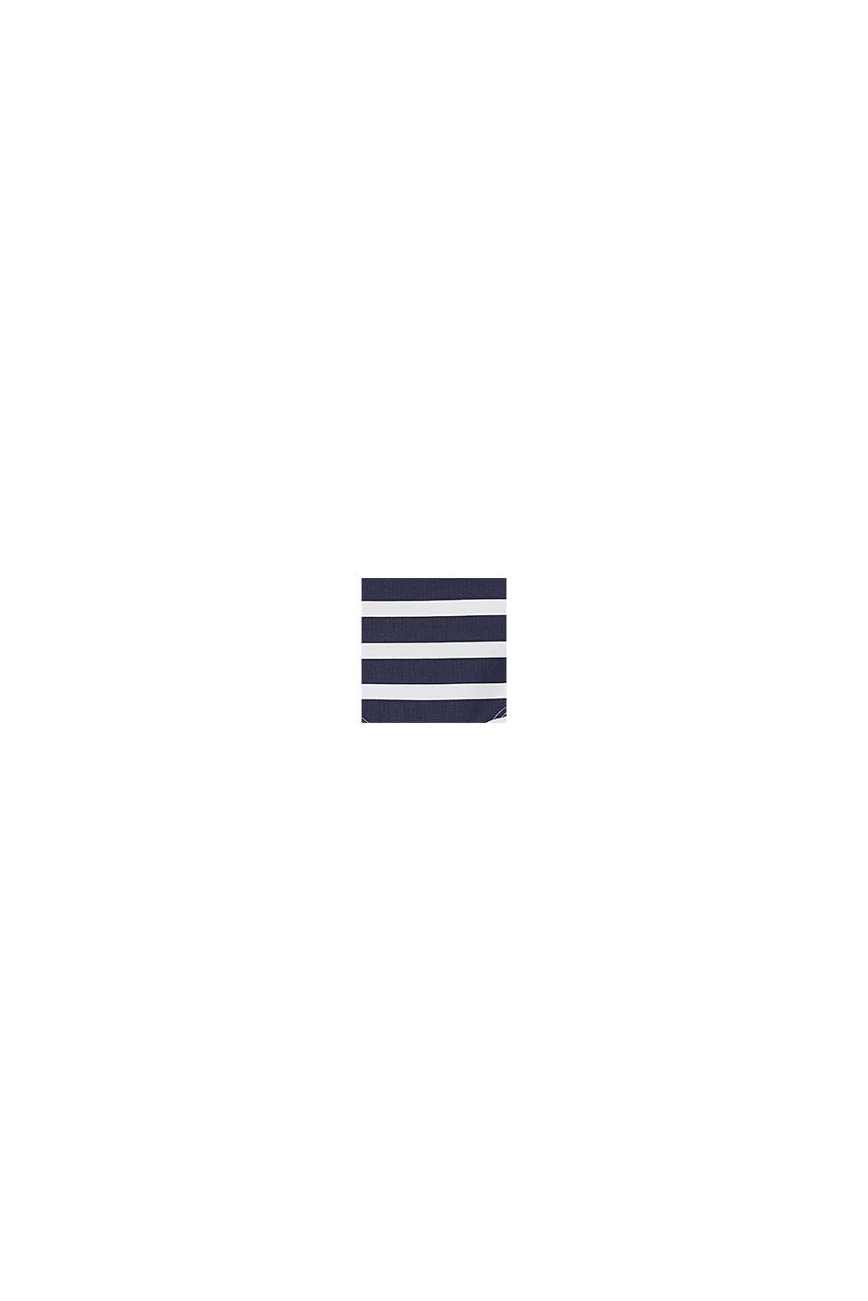 Recycled: stripe print shorts, NAVY, swatch