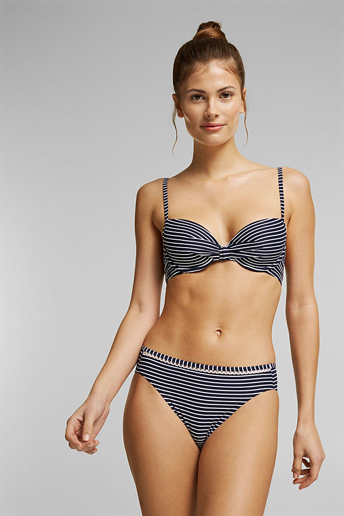 Recycled: Underwire top with stripes