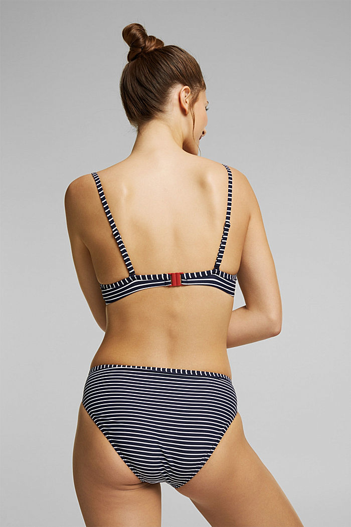 Recycled: Underwire top with stripes, NAVY, detail image number 1