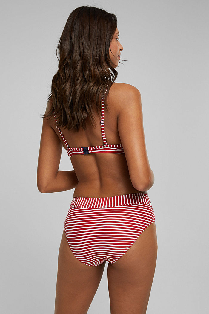 Recycled: Underwire top with stripes, RED, detail image number 1
