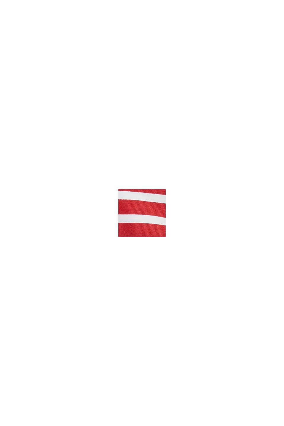 Recycelt: wattiertes Neckholder-Top mit Streifen, RED, swatch