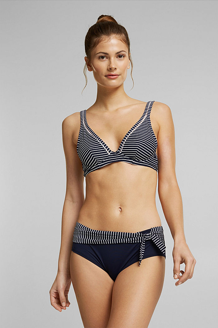 Recycled: Unpadded underwire top with stripes