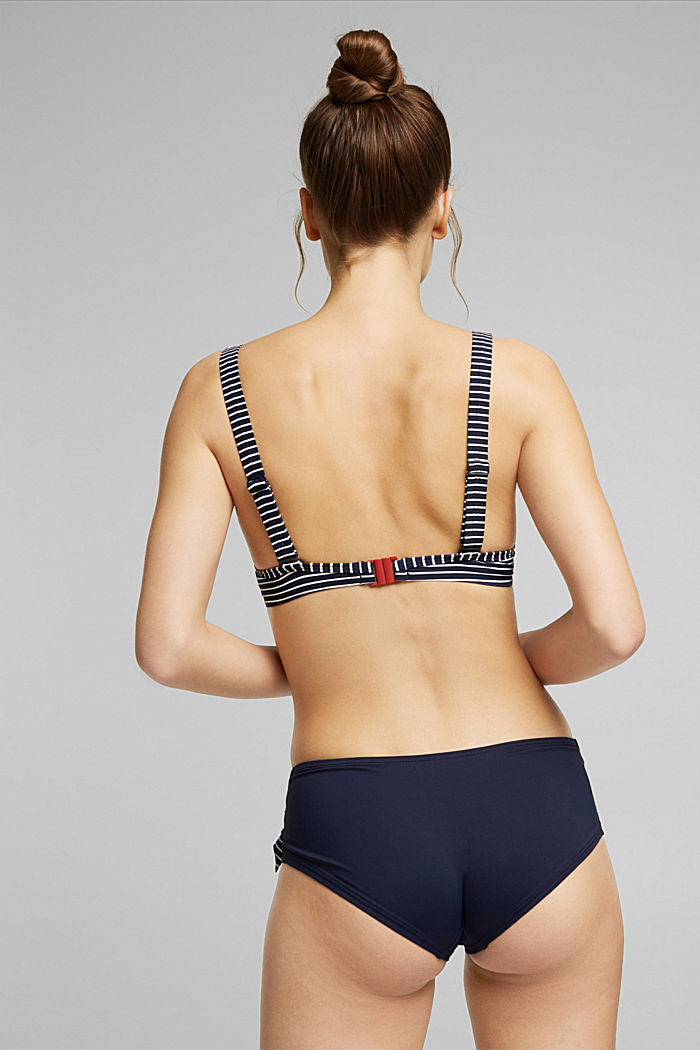 Recycled: Unpadded underwire top with stripes, NAVY, detail image number 1