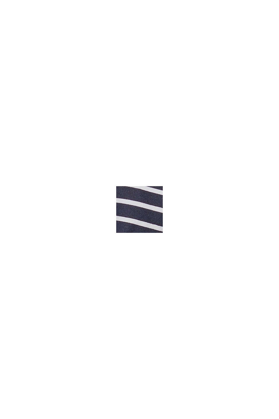 Recycled: Unpadded underwire top with stripes, NAVY, swatch