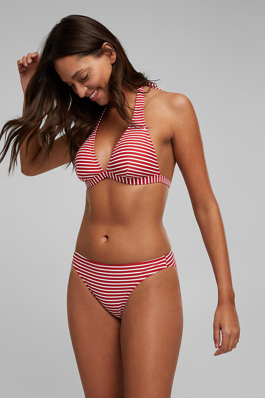 Recycled: striped bikini briefs