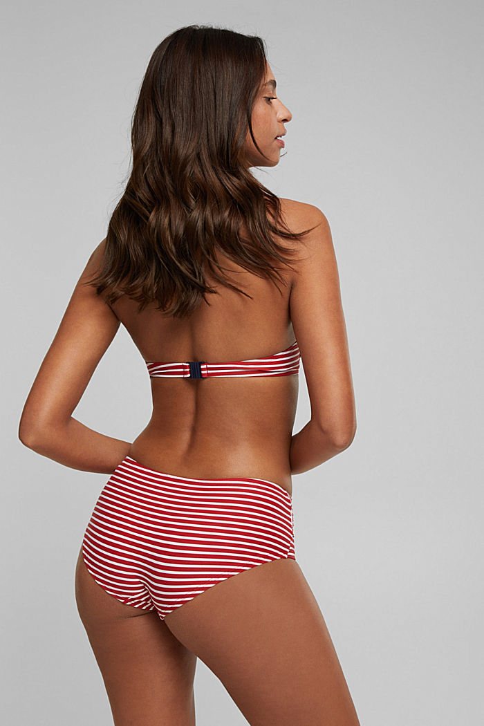 Recycled: Hipster shorts with stripes, RED, detail image number 2