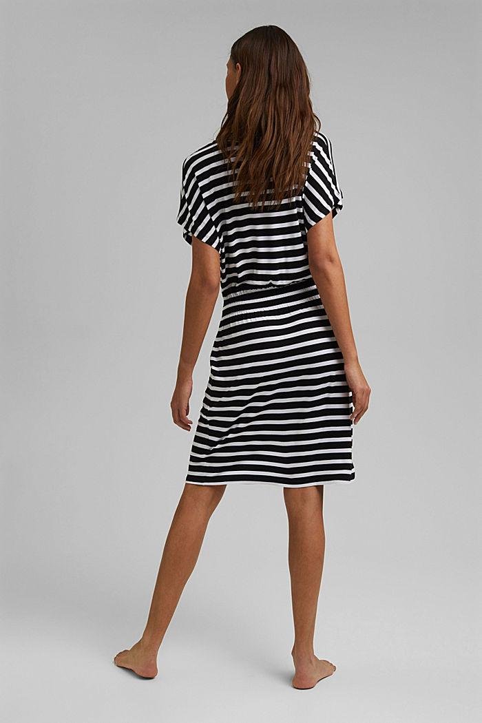 Jersey-Strandkleid aus LENZING™ ECOVERO™, BLACK, detail image number 1