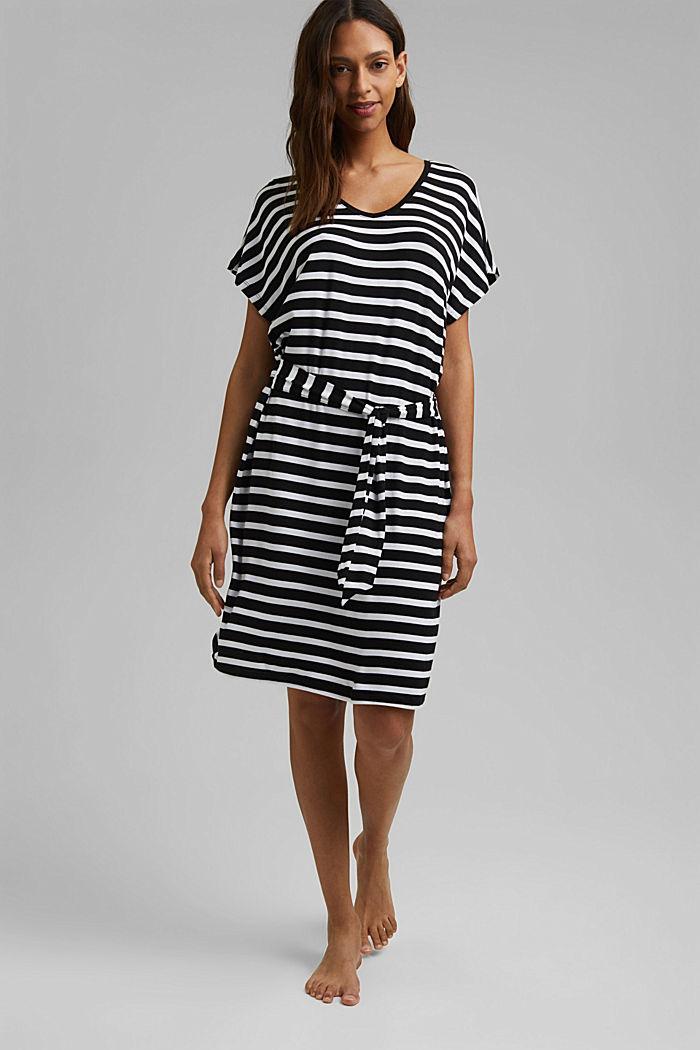 Jersey-Strandkleid aus LENZING™ ECOVERO™, BLACK, detail image number 2