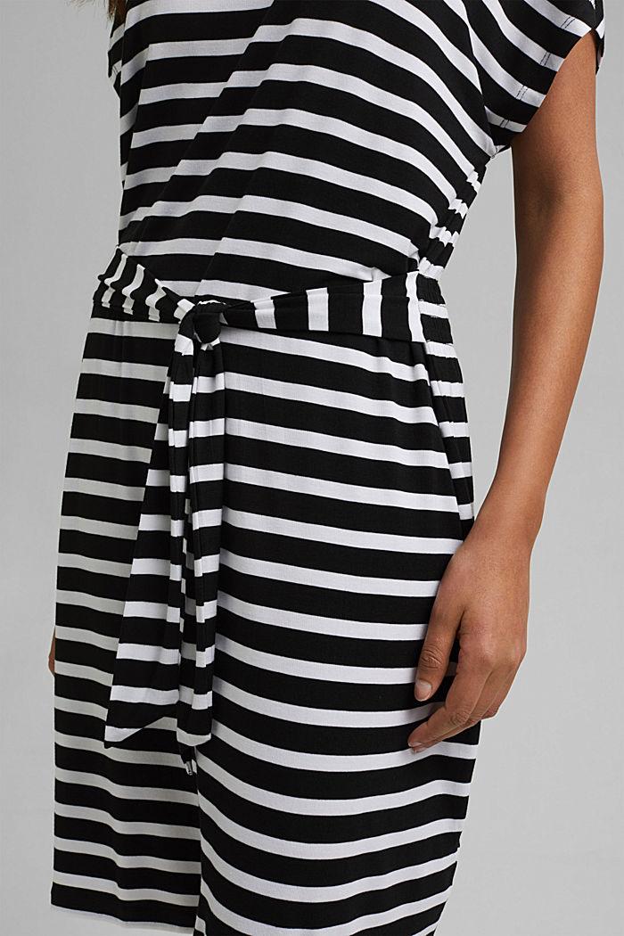 Jersey-Strandkleid aus LENZING™ ECOVERO™, BLACK, detail image number 5