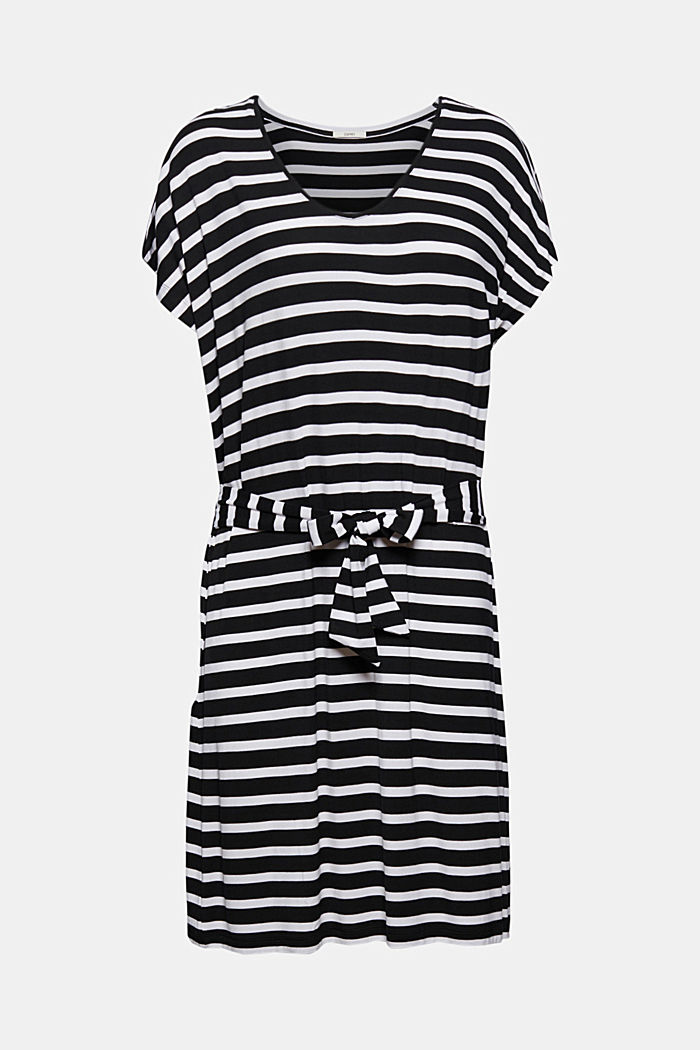 Jersey-Strandkleid aus LENZING™ ECOVERO™, BLACK, detail image number 4