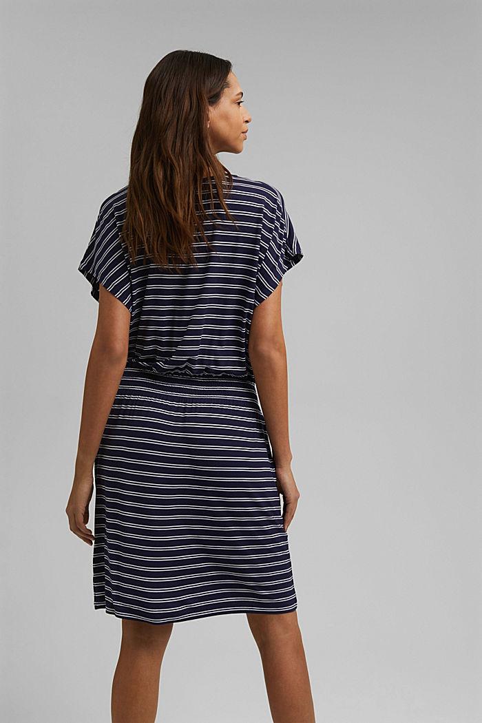 Jersey beach dress made of LENZING™ ECOVERO™, NAVY, detail image number 1