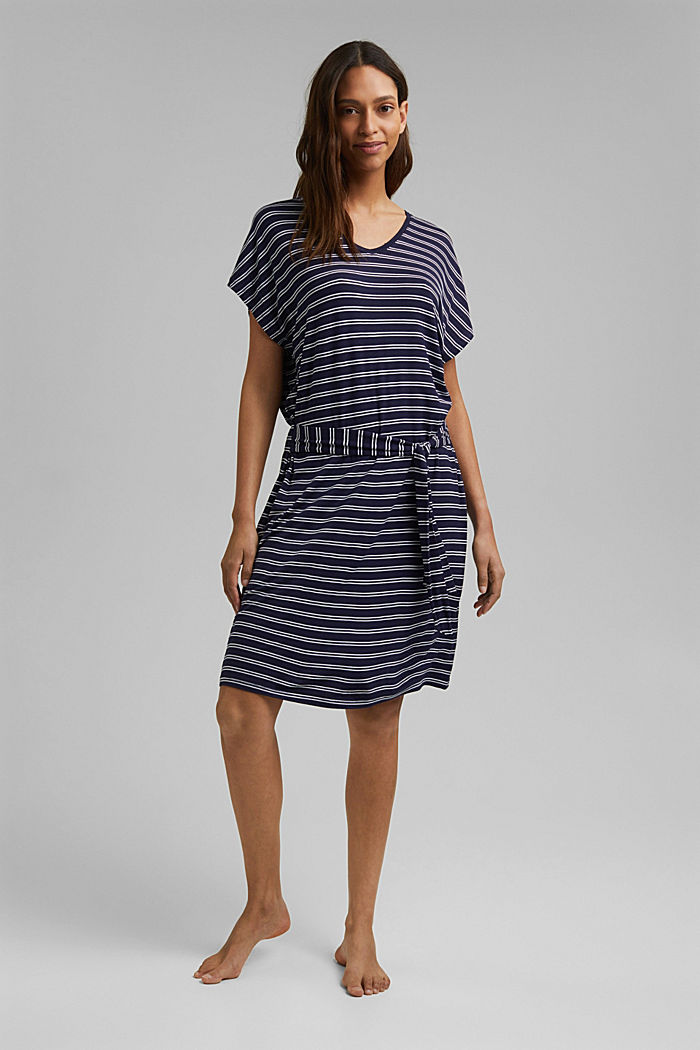 Jersey beach dress made of LENZING™ ECOVERO™, NAVY, detail image number 2