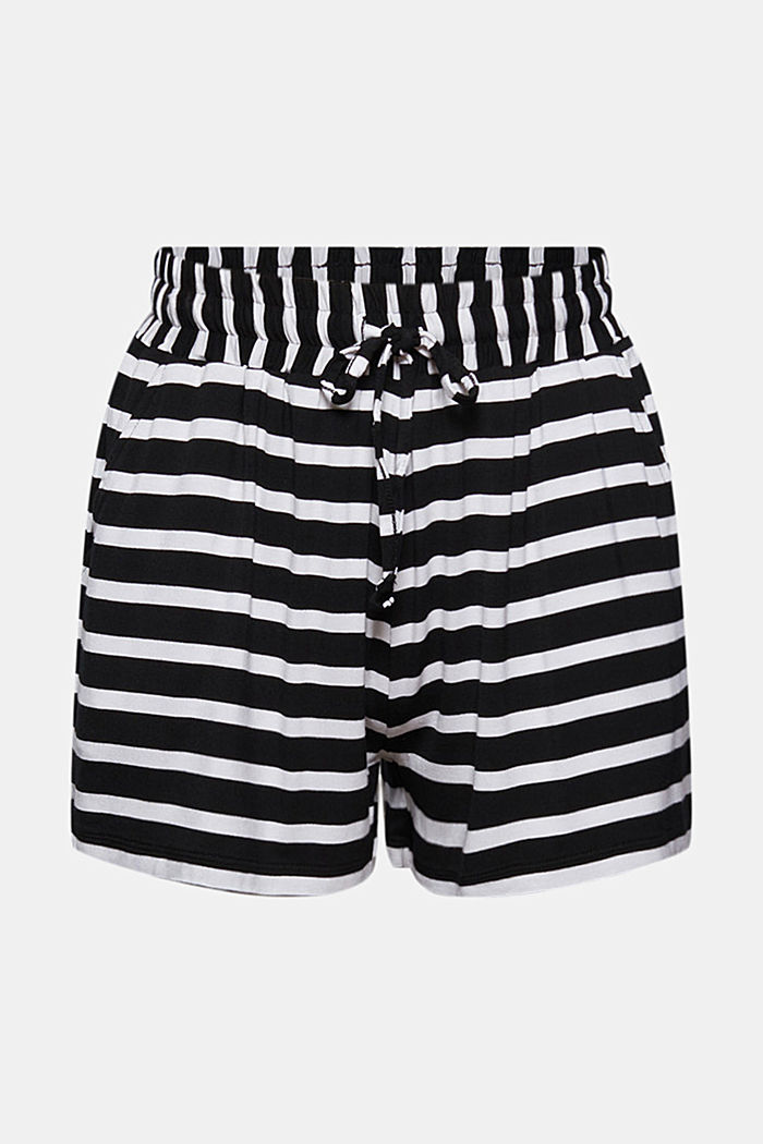 Jersey shorts made of LENZING™ ECOVERO™, BLACK, overview