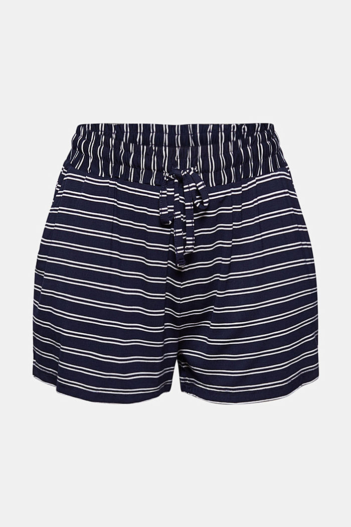 Jersey shorts made of LENZING™ ECOVERO™, NAVY, detail image number 3