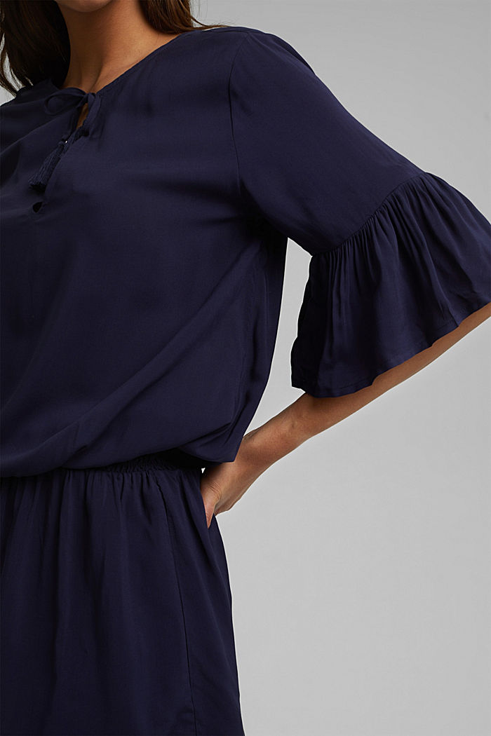 Beach dress made of LENZING™ ECOVERO™, NAVY, detail image number 4