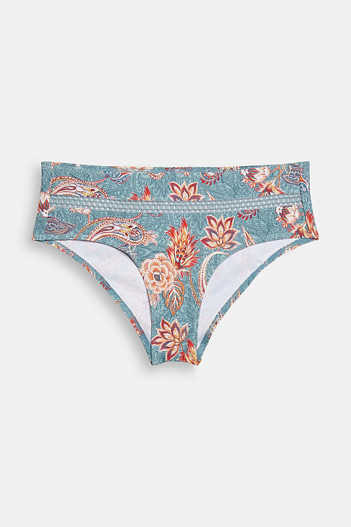 Recycled: midi briefs with a print