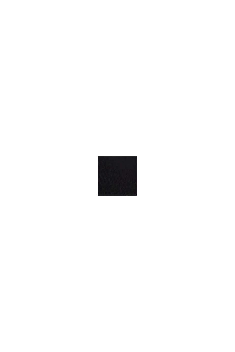 Reciclado: tanga de tiro bajo con encaje, BLACK, swatch