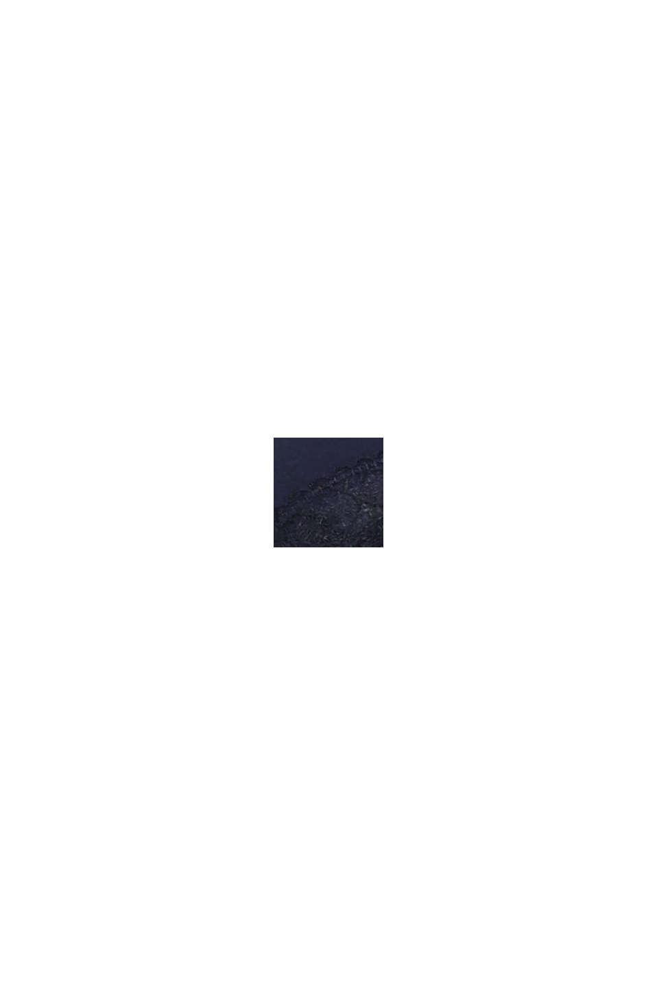 Gewatteerde beugel-bh met kanten beleg, NAVY, swatch