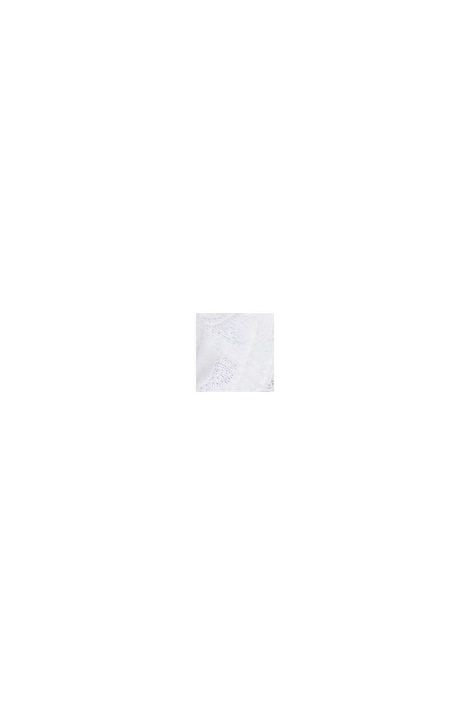 Reciclado: sujetador de aros en encaje geométrico, WHITE, swatch