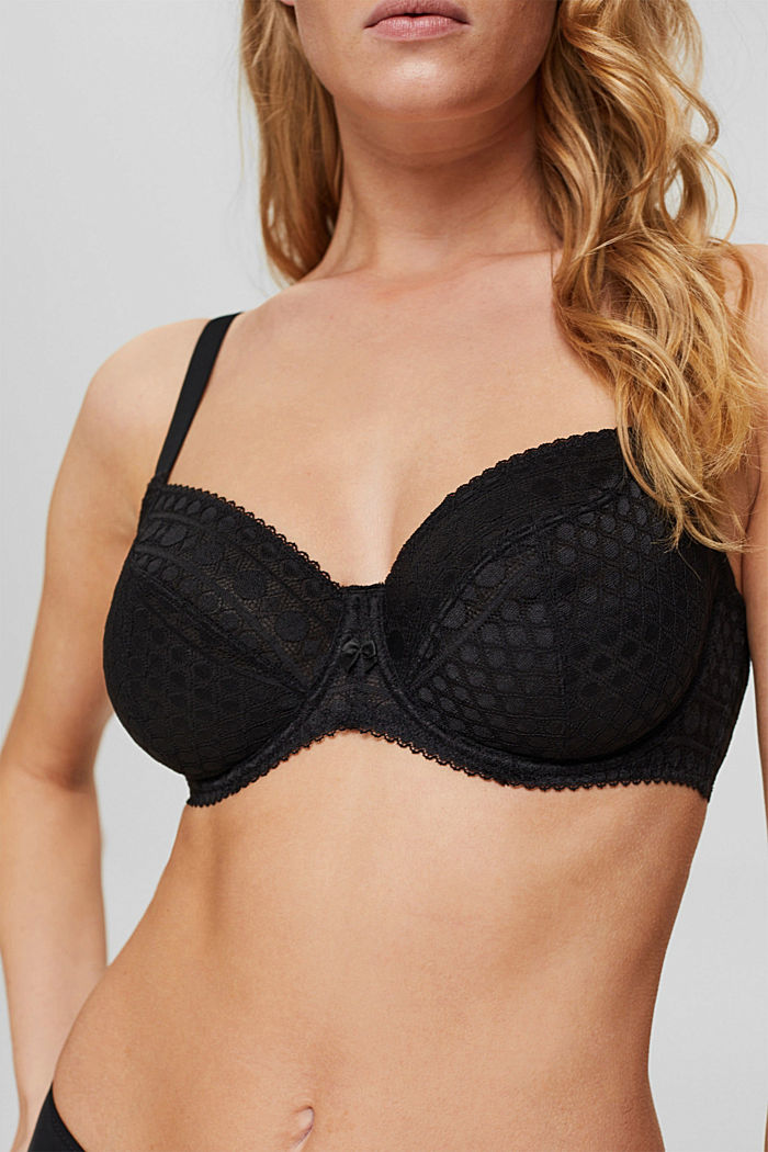 Bras with wire, BLACK, detail image number 2