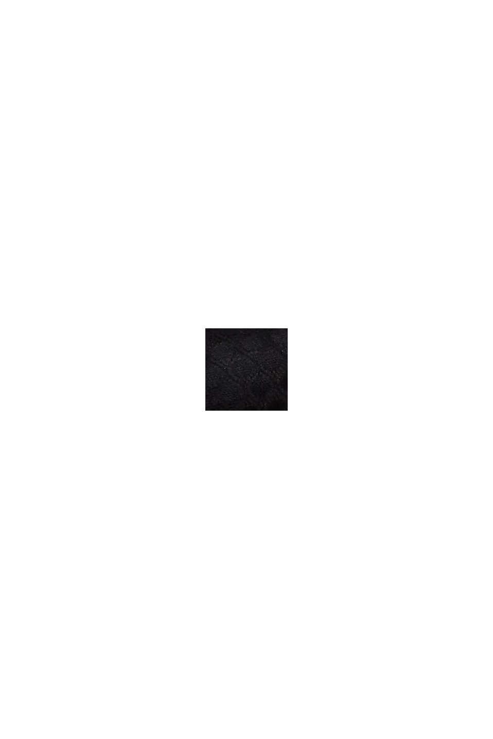 Sujetador suave en encaje geométrico, BLACK, swatch