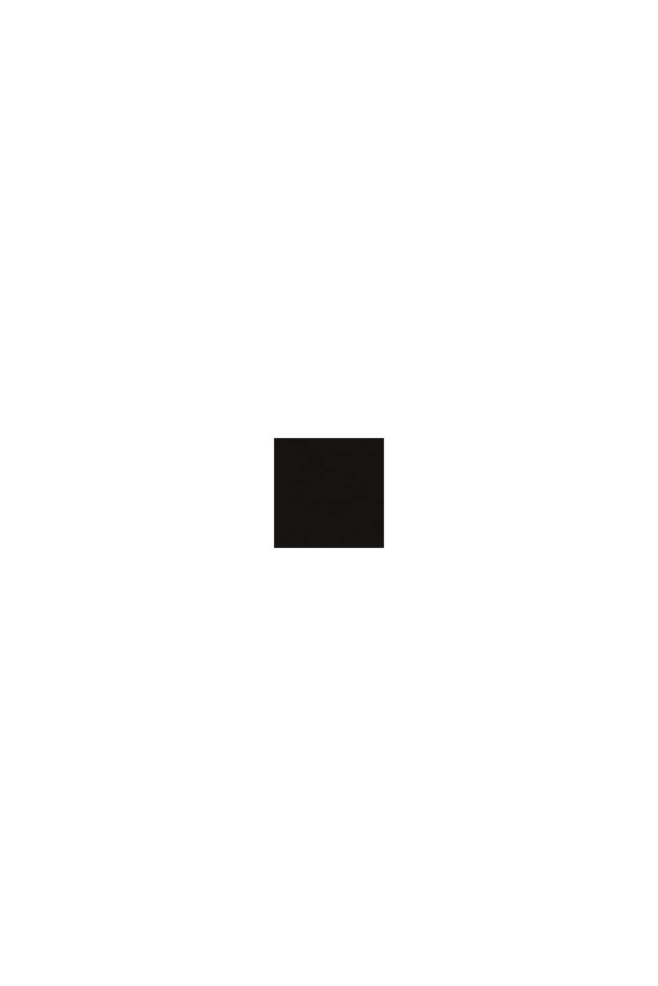 Återvunnet material: miditrosa i mikrofiber med spets, BLACK, swatch