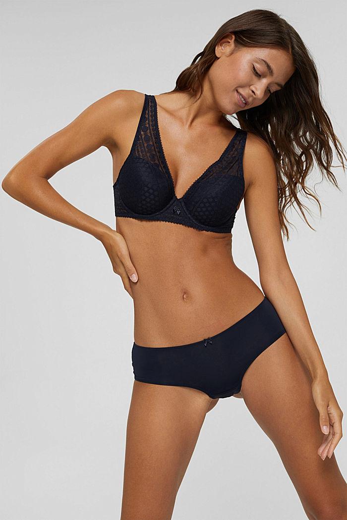 Pack de dos: culotte brasileño con encaje, NAVY, detail image number 0