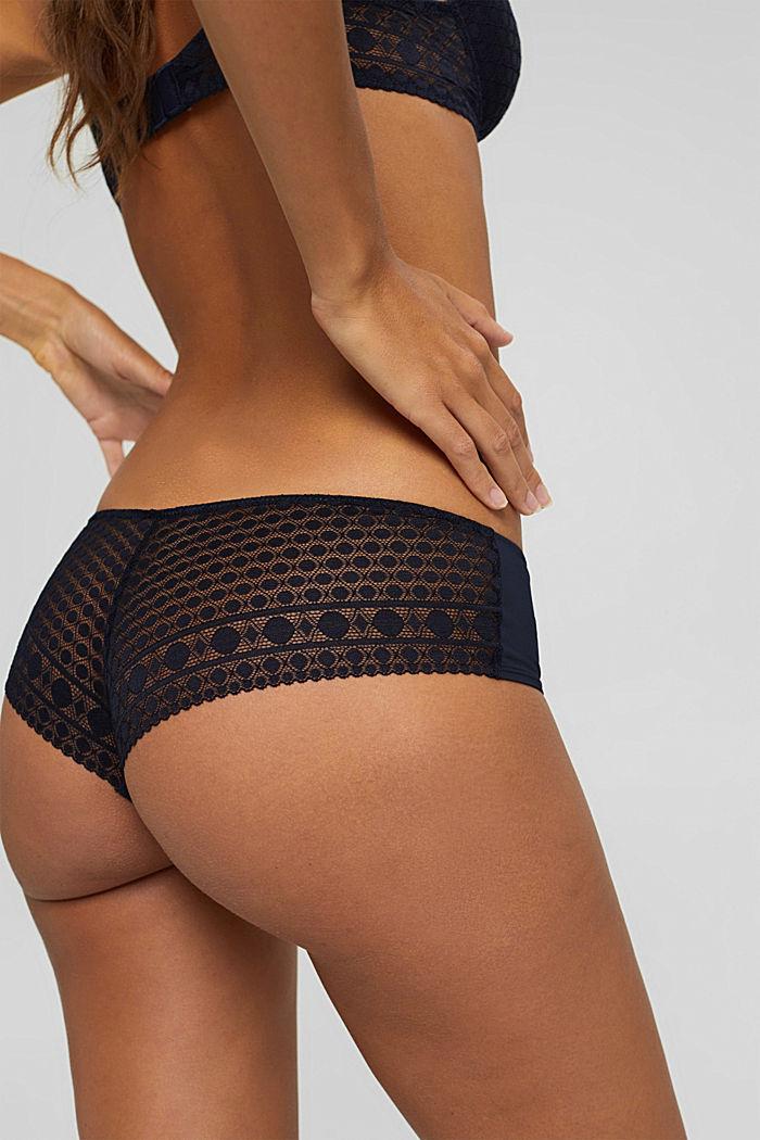 Pack de dos: culotte brasileño con encaje, NAVY, detail image number 1