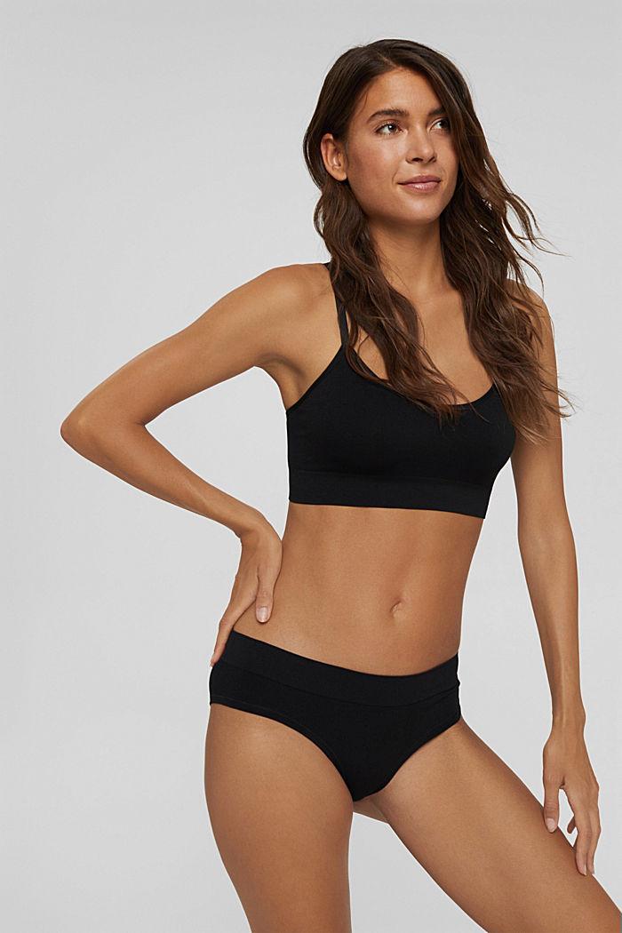 Recycled: soft, comfy hipster shorts, BLACK, detail image number 0