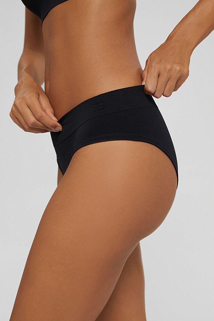 Recycled: soft, comfy hipster shorts, BLACK, detail image number 3