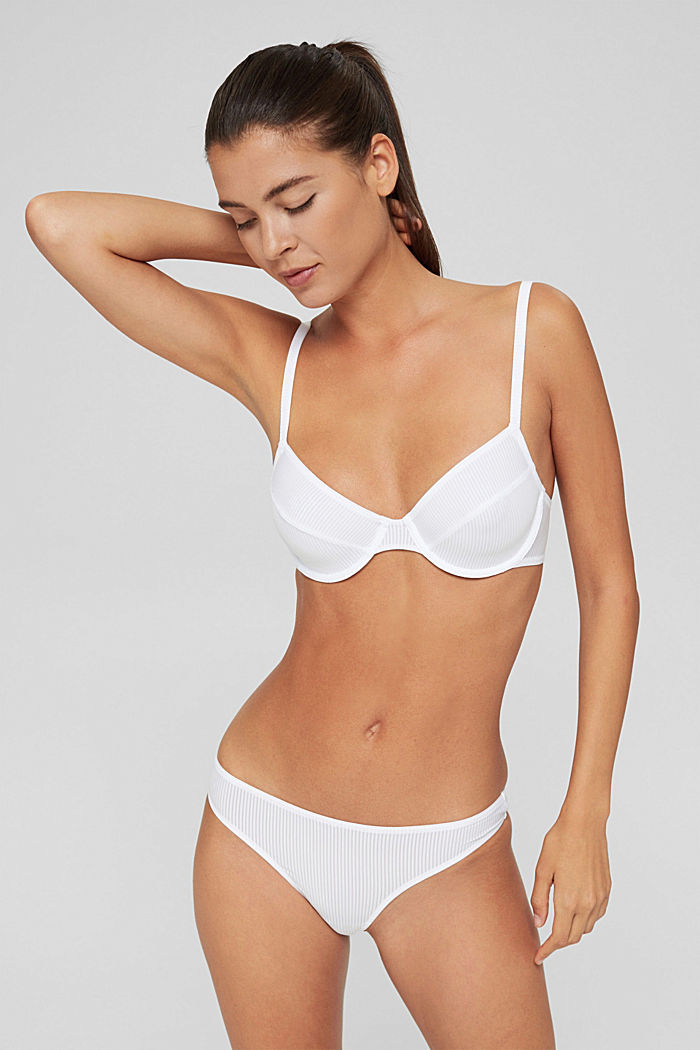 Recycled: microfibre hipster thong, WHITE, detail image number 0