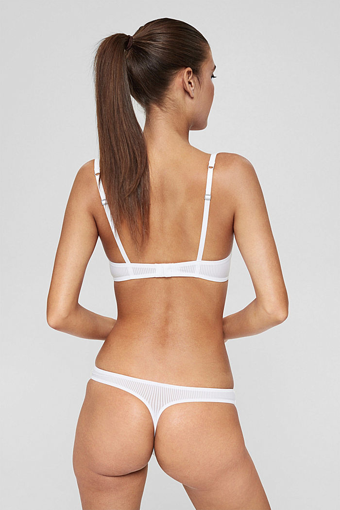 Recycled: microfibre hipster thong, WHITE, detail image number 2