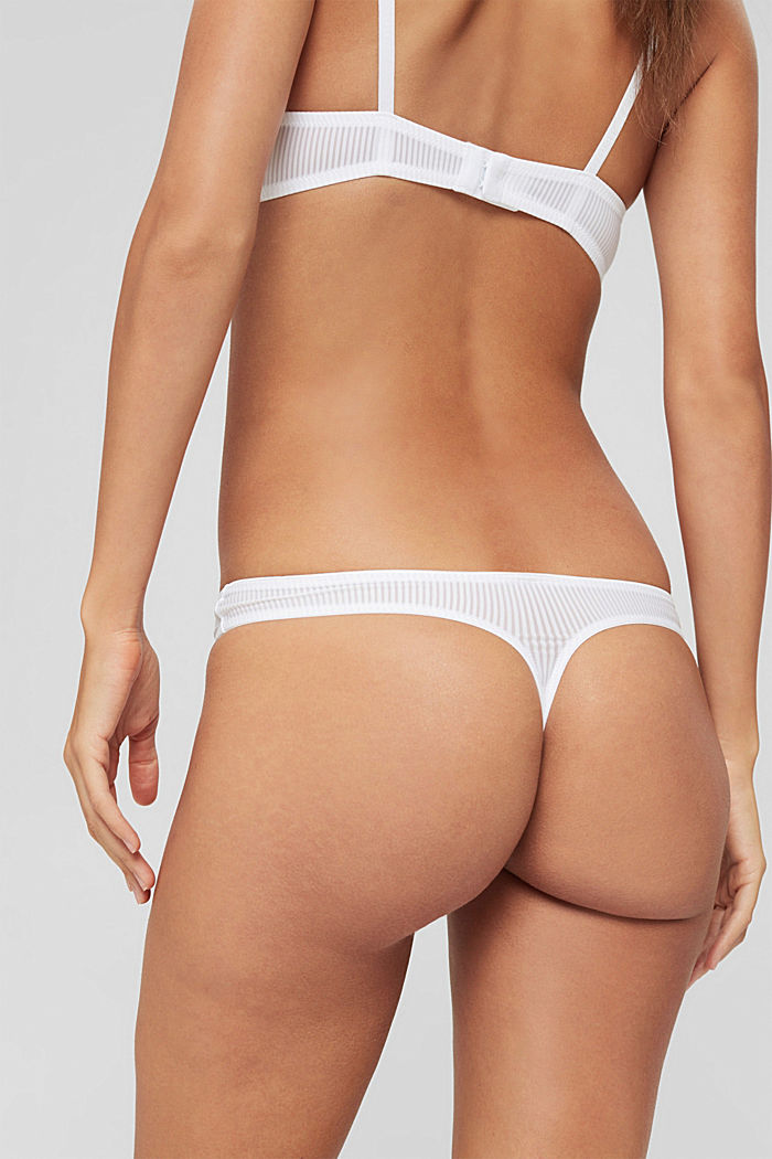 Recycled: microfibre hipster thong, WHITE, detail image number 3