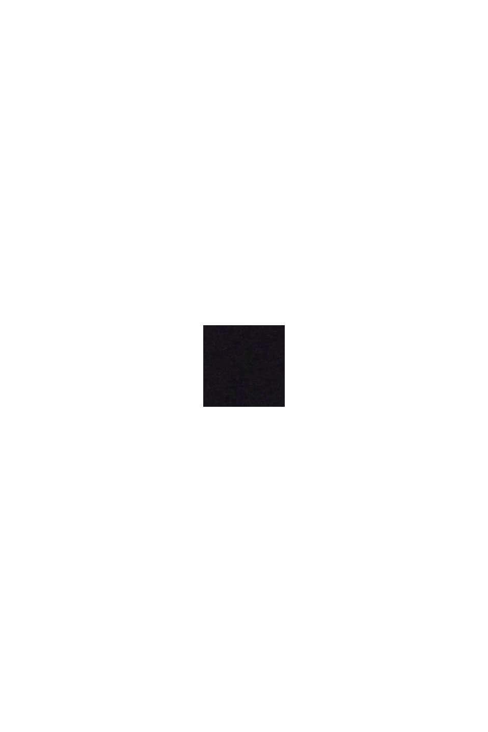 Gerecycled: ongewatteerde, vrijwel naadloze bustier, BLACK, swatch