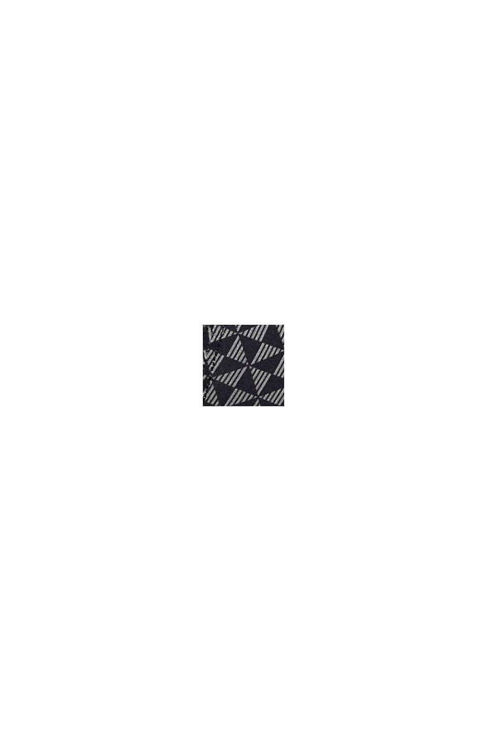 Gerecycled: gewatteerde beugel-bh met print, BLACK, swatch