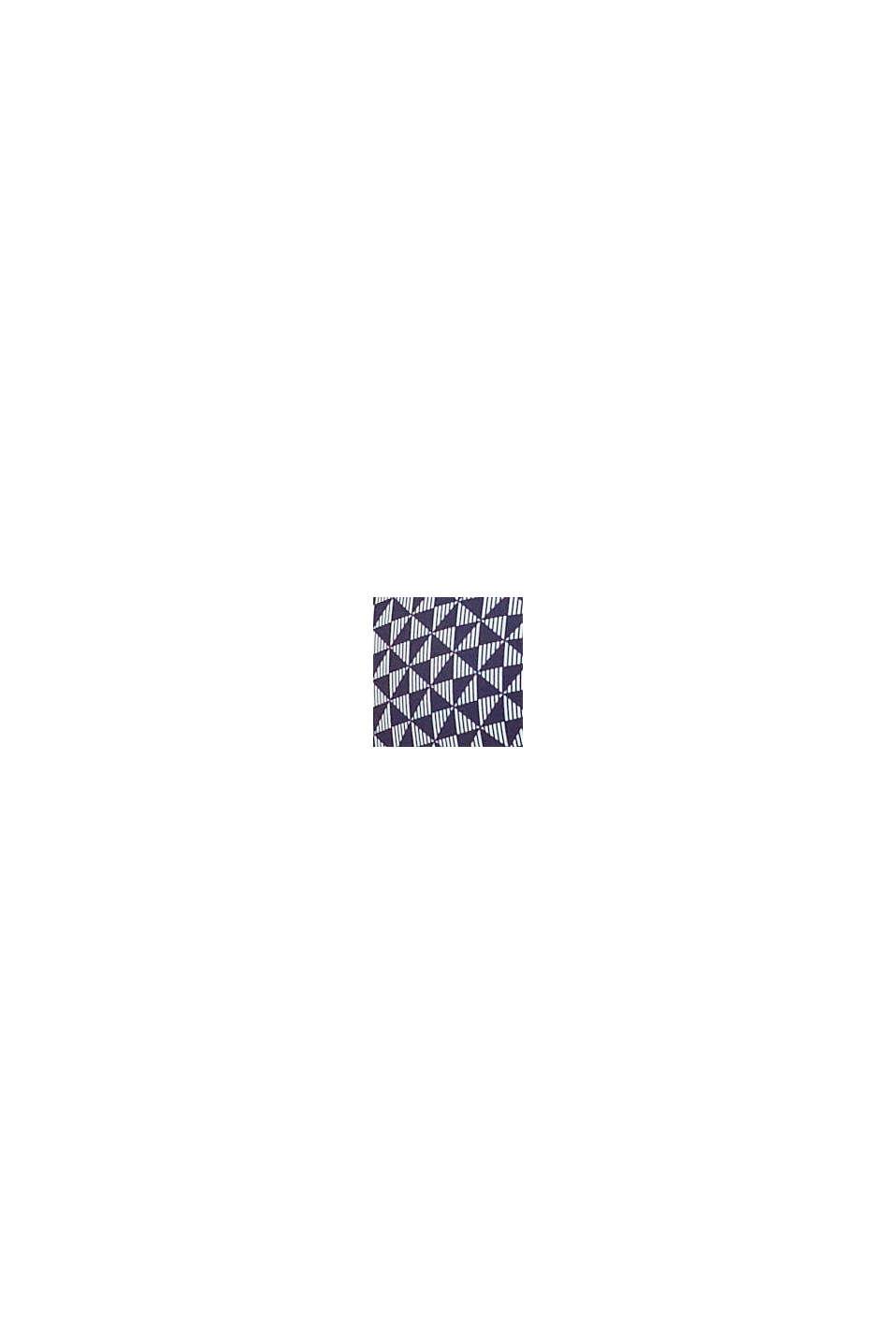 Gerecycled: gewatteerde beugel-bh met print, NAVY, swatch