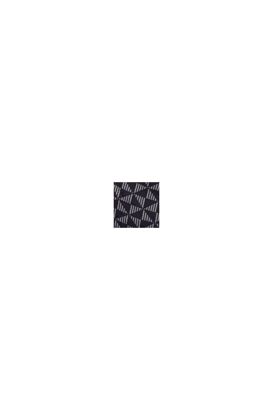 Reciclado: sujetador de aros sin relleno con estampado, BLACK, swatch