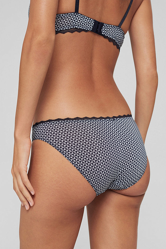 Recycled: printed hipster briefs, NAVY, detail image number 3