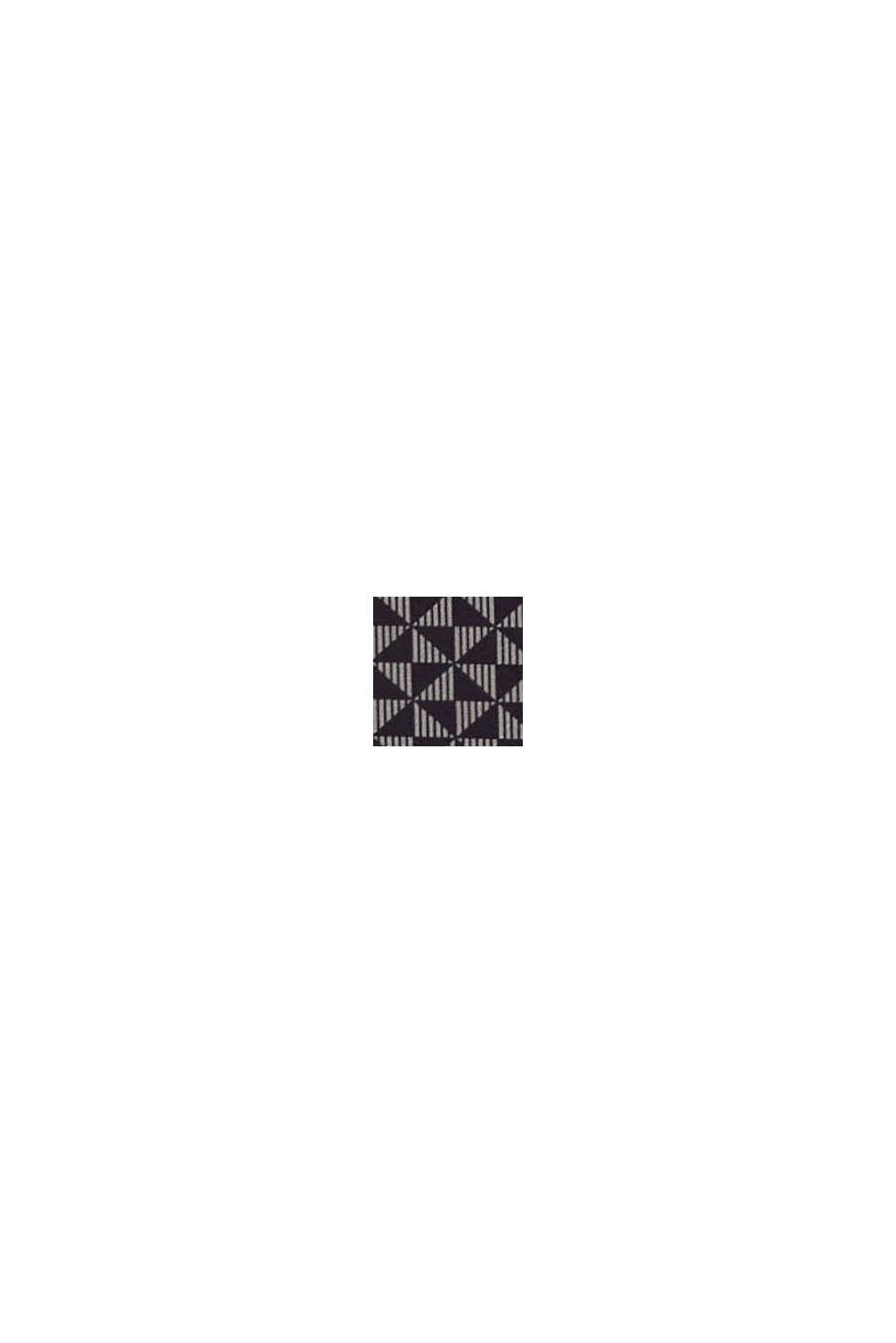 In materiale riciclato: culotte corte con stampa, BLACK, swatch