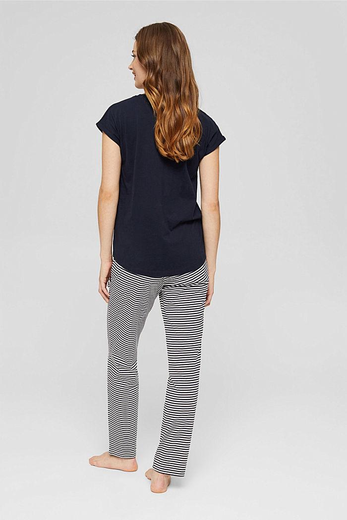 Pyjama en jersey, 100% coton bio, NAVY, detail image number 1