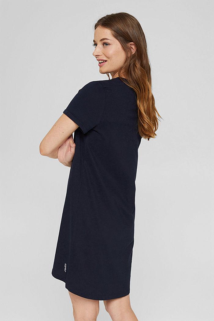 Jersey nightshirt made of 100% organic cotton, NAVY, detail image number 2