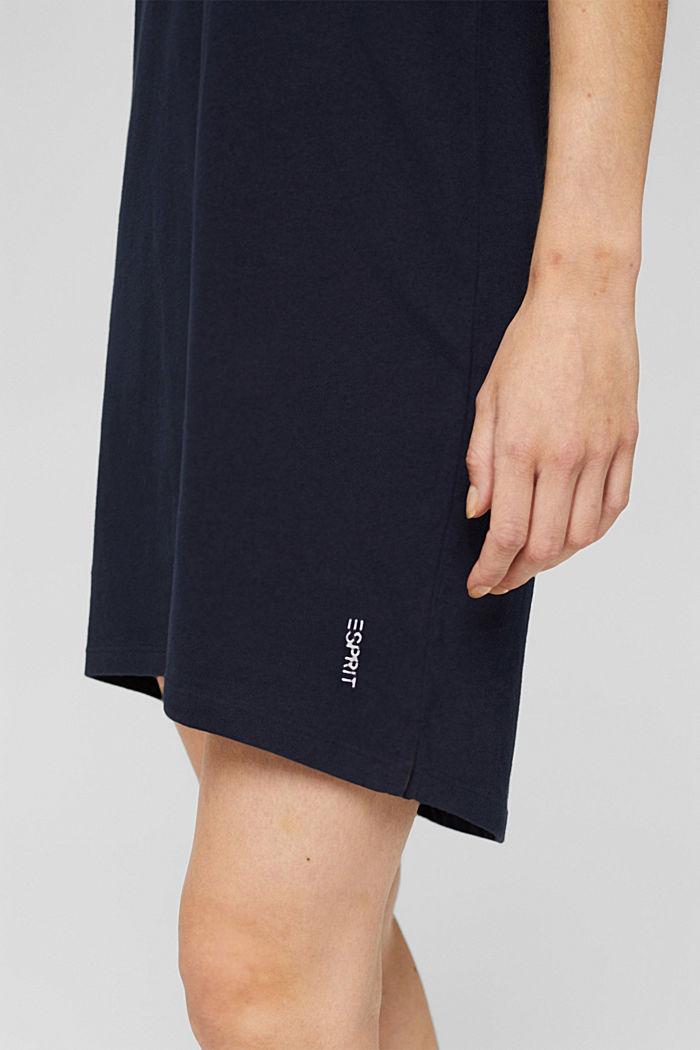 Jersey nightshirt made of 100% organic cotton, NAVY, detail image number 3