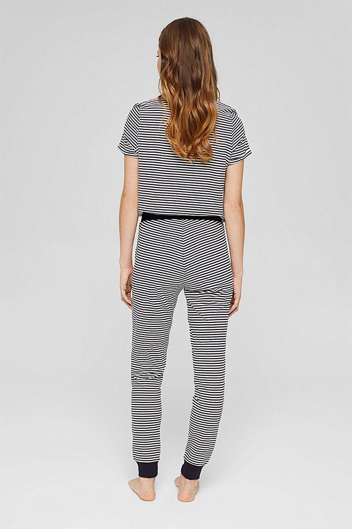 Jersey pyjama bottoms, 100% organic cotton, NAVY, detail image number 3