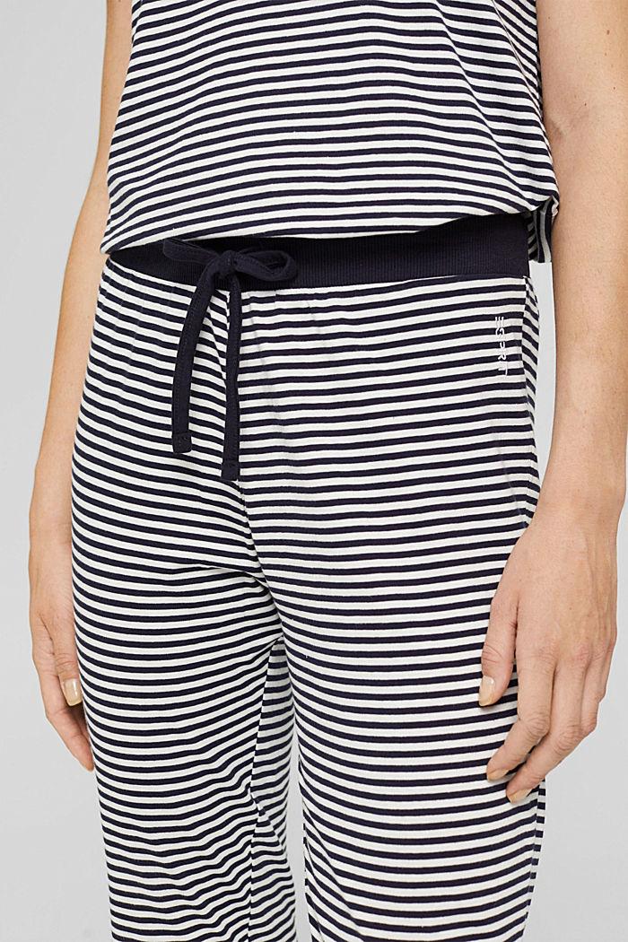 Jersey pyjama bottoms, 100% organic cotton, NAVY, detail image number 2